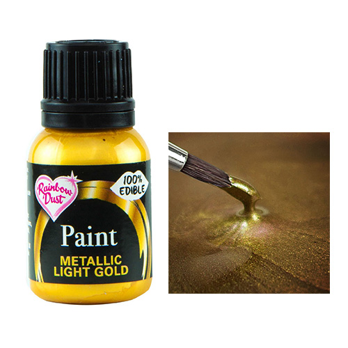Rainbow Dust Metallic Light Gold Food Paint