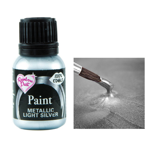 Rainbow Dust Metallic Light Silver Food Paint