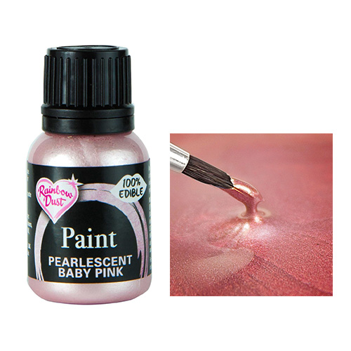 Rainbow Dust Metallic Pearlescent Baby Pink Food Paint