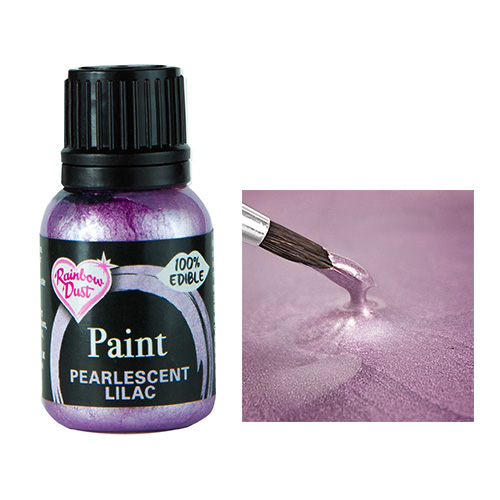 Rainbow Dust Metallic Pearlescent Baby Lilac Food Paint