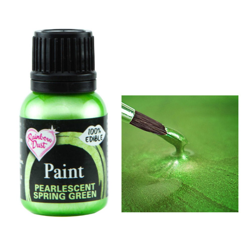Rainbow Dust Metallic Pearlescent Spring Green Food Paint