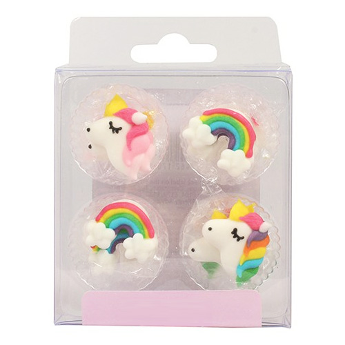 Rainbow Unicorn Edible Cupcake Toppers