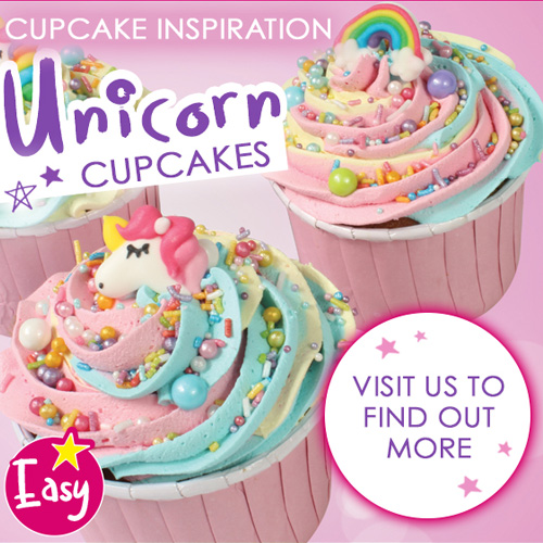 Rainbow Unicorn Edible Cupcake Toppers 12pcs