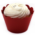 Red Cupcake Wrapper 12pcs