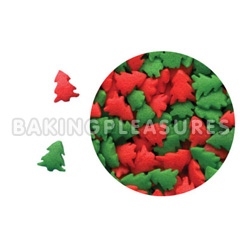 Red Green Christmas Trees Edible Sprinkles