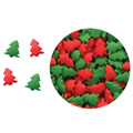 Red Green Christmas Trees Edible Sprinkles 73g