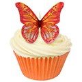 Red & Orange Edible Wafer Butterflies 12pcs