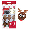 Reindeer Edible Christmas Cupcake Decorations (set of 12)