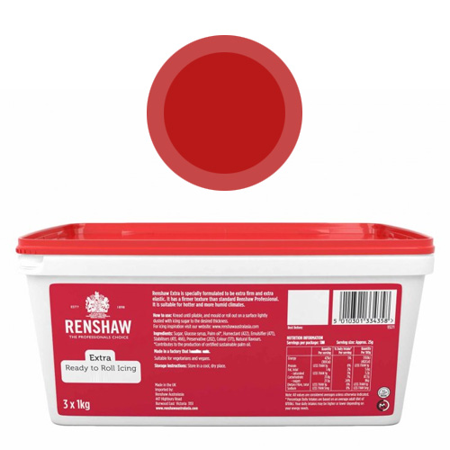 Renshaw Extra Red Icing Fondant 3kg