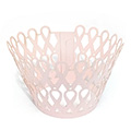 Ribbon Pearl Pink Lace Cupcake Wrappers 12pcs