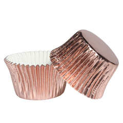 Rose Gold Foil Baking Cups