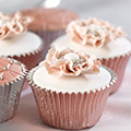 Rose Gold Foil Baking Cups 45pcs
