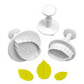 Mondo Rose Leaf Plunger Cutters 3pcs