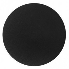 Mondo Round Black Masonite Cake Board 6 Inch