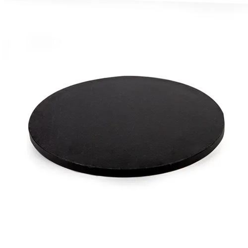 Mondo Round Black Masonite Cake Board 7 Inch