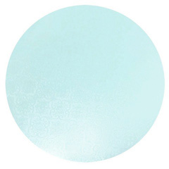 Round Baby Blue Masonite Cake Board 8 Inch
