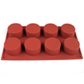 Round Cylinder Silicone Baking Mould 8 Cavity