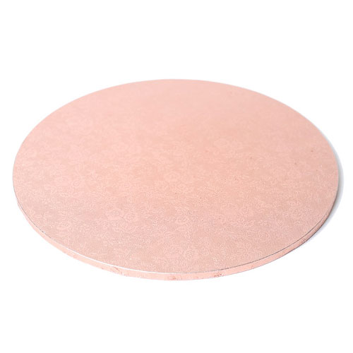 Round Rose Gold Masonite Cake Board 9 Inch