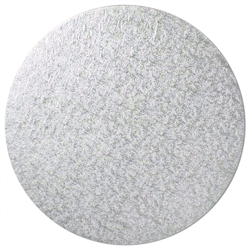 Round Silver  Masonite Cake Board 10 Inch
