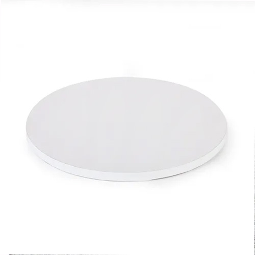 Mondo Round White Masonite Cake Board 8 Inch