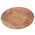 Round Wood Print Masonite Cake Board 10 Inch