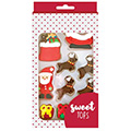 Santa Reindeer Edible Christmas Cupcake Decorations 10pcs