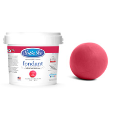 Satin Ice RTR Fondant Icing Red Coral/Vanilla
