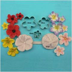 Sculptured Blossom Cutter Amp Veiner Set