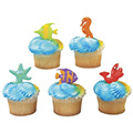Sealife Friends Cupcake Picks 12pcs