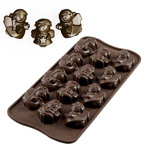 Silikomart Chocolate Mould Christmas Angels
