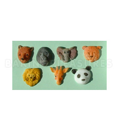 Alphabet Moulds Small Animal Heads Silicone Mould