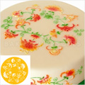 Small Crewel Ring Cake Top Stencil