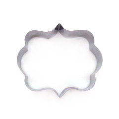 Small Elegant Plaque Stainless Steel Cookie Cutter