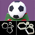 Soccer Hexagon Pentagon Sugarcraft Cutters 4pcs