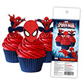 Spiderman Edible Wafer Cupcake Toppers 16pcs