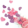 Sprinkd Heart Purple & Pink Wafer Sprinkles 9g