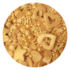 Sprinkletti Gold Mix Sprinkles 100g (BB: 31 Oct 2020)