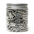 Sprinks Metallic Silver Rods Sprinkles 75g
