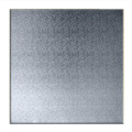 Square Silver Masonite Cake Board 6 Inch