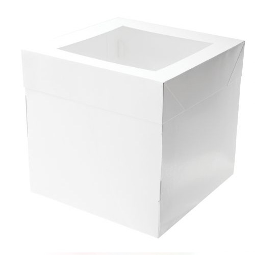 Mondo Square White Cake Box 10 inch (10 inch tall)
