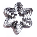 Stainless Steel Crinkly Snowflake Cutter Set 5pcs
