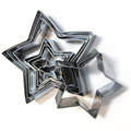 Stars Cutter Set 8pcs - Stainless Steel