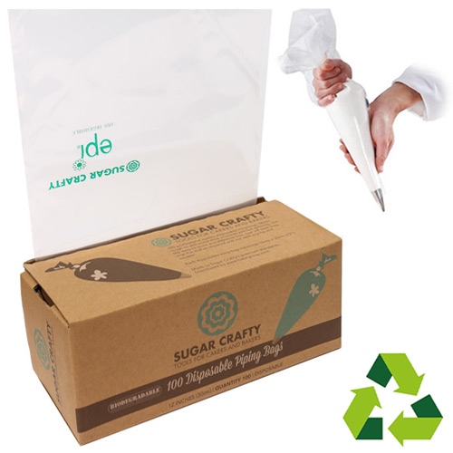 BULK Biodegradable Disposable Piping Bags 12 inches 100pcs