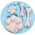 Sugar Shapes Dog Paw & Bones Silicone Mould