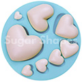 Sugar Shapes Hearts Silicone Mould