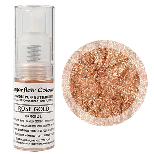 Sugarflair Edible Glitter Dust Spray Rose Gold