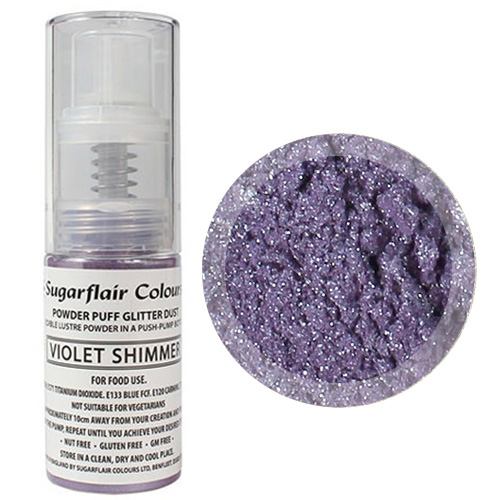 Sugarflair Edible Glitter Dust Spray Violet 10g