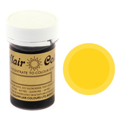 Sugarflair Spectral Paste Colour Egg Yellow 25g