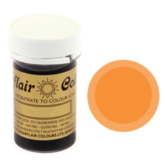 Sugarflair Spectral Paste Colour Tangerine 25g