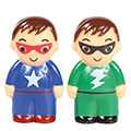 Superhero Cake/Cupcake Topper 2pcs  (Non Edible)